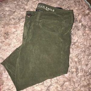 Green American Eagle Skinny Jeans